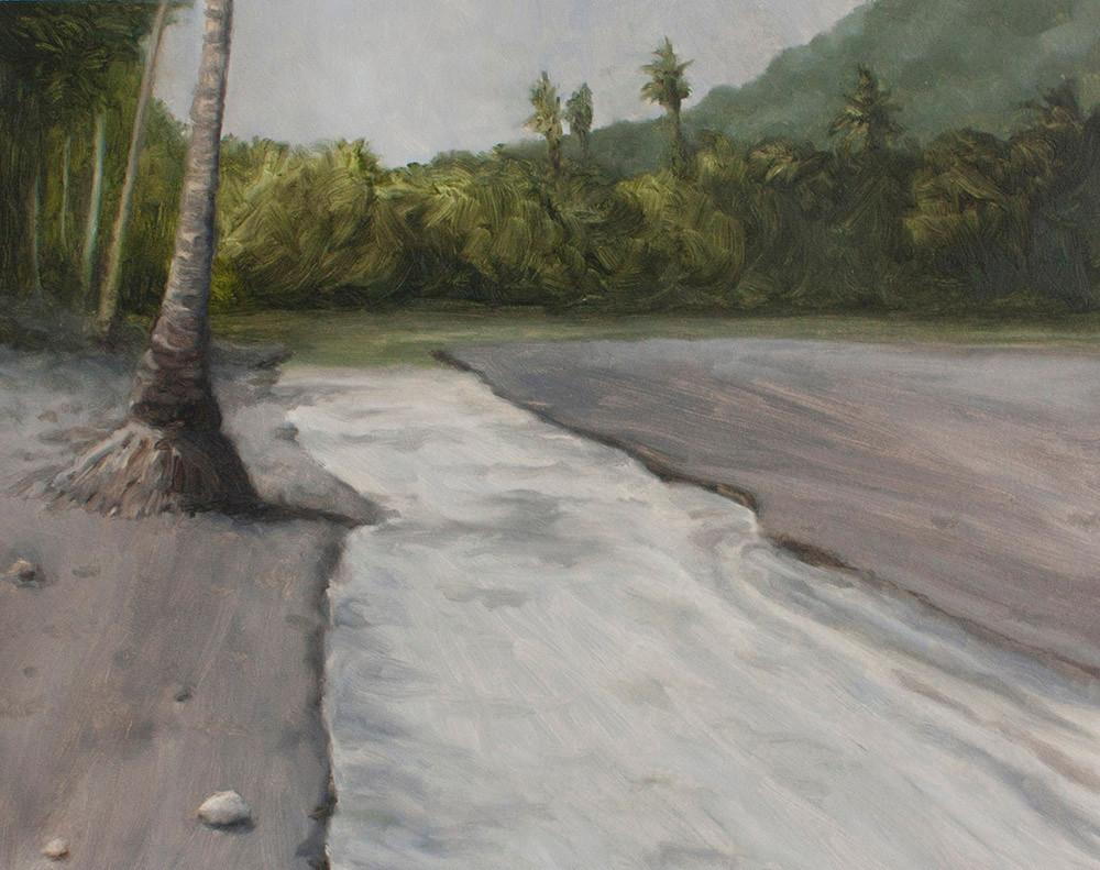 Jake Aikman | N10.857036, W85.773446 | 2013 | Oil on Paper | 31 x 40 cm