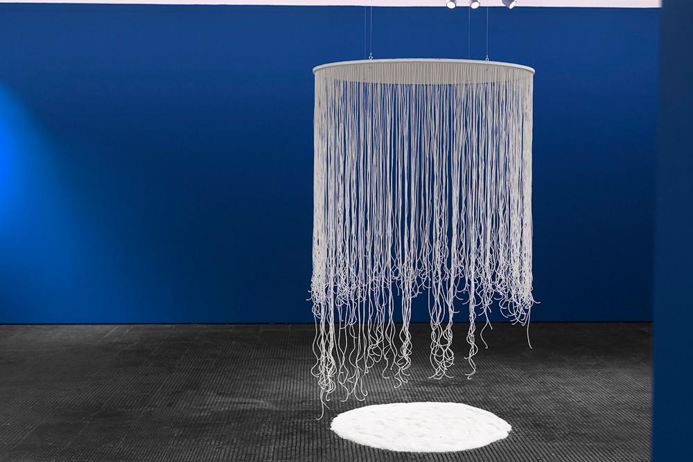 Lhola Amira | Philisa | 2018 | Beads, Wood, Salt | Dimensions Variable