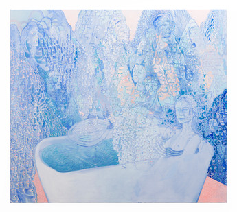 Marlene Steyn | steam/me//time | 2019 | Oil on Canvas | 190 x 170 cm