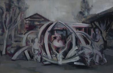 Kate Gottgens | Hunter | 2014 | Oil on Canvas | 68 x 105 cm