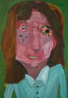 Georgina Gratrix | Miss Moon | 2012 | Oil on Canvas | 90.5 x 60 cm