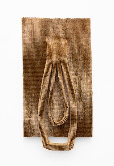 Usha Seejarim   Double Lobe   2021   Pegs, Wire and Steel   179 x 82 x 18 cm