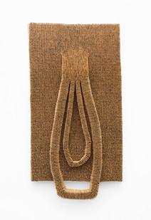 Usha Seejarim | Double Lobe | 2021 | Pegs, Wire and Steel | 179 x 82 x 18 cm