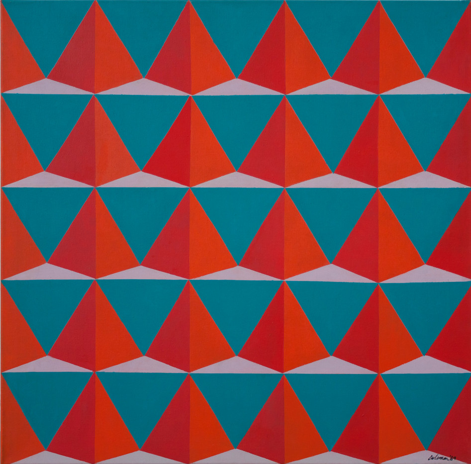 Trevor Coleman | Dancing Pyramid | 1969 | Acrylic on Canvas | 76 x 76 cm