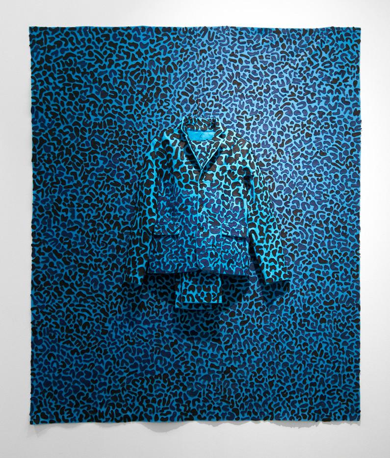 Jody Paulsen | The Singleton Years (Blue) | 2016 | Felt Collage | 187 x 171 cm