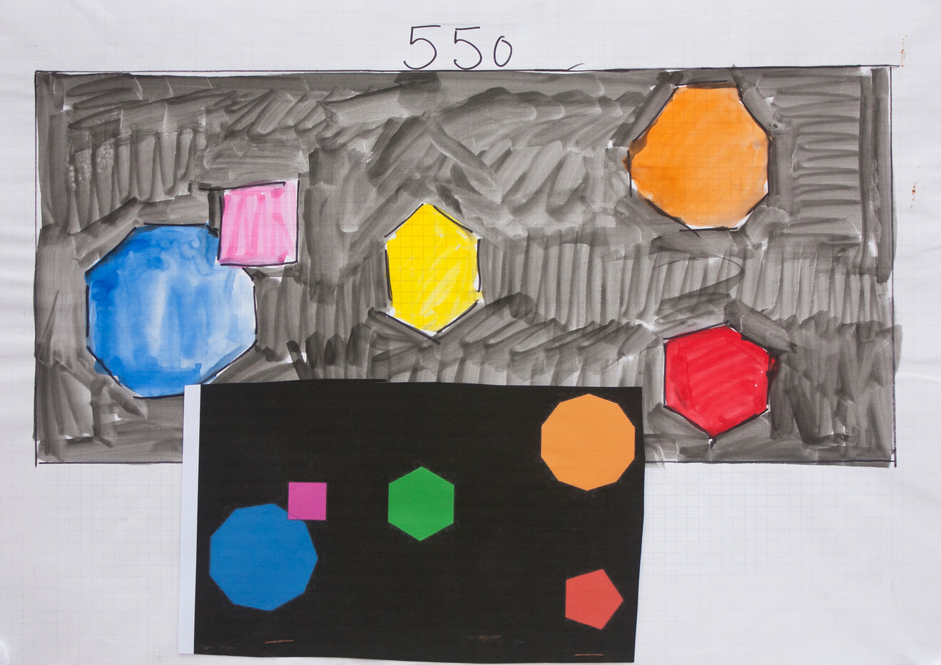 Simon Popper | Study for Paintings | 2014 | Mixed Media on Paper | 42 x 119.5 cm