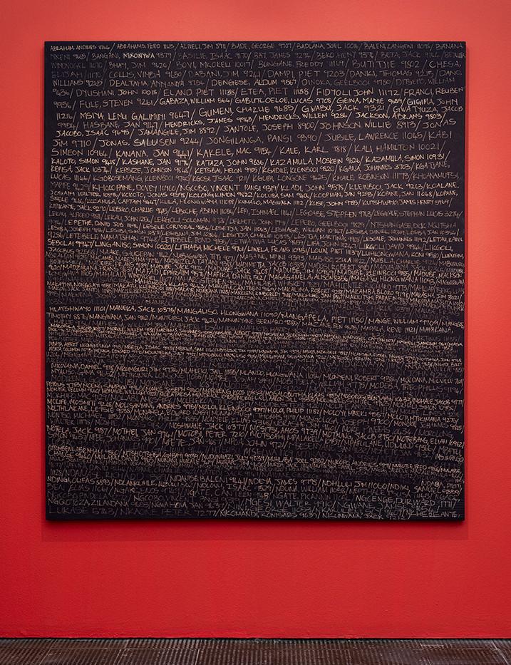 Lhola Amira | Umlibo I | 2018 | Acrylic on Stretched Fabric | 200 x 175 cm