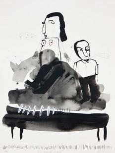 Karlien de Villiers | Die Huweliksbed | 2014 | Watercolour on Paper | 45 x 35 cm