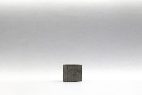 Ruann Coleman   Strength   2013   Steel Powder, Cement, Artists Tears   1 x 2 x 2 cm