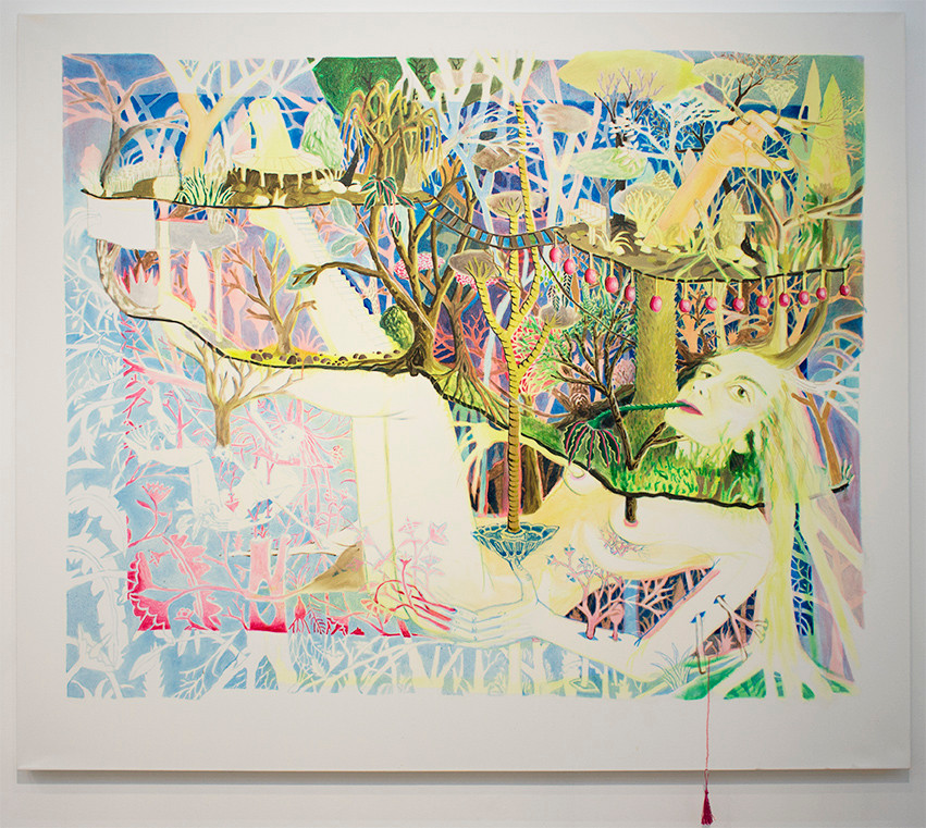 Marlene Steyn | Forest for her for rest | 2015 | Mixed Media on Canvas | 182 x 200 cm