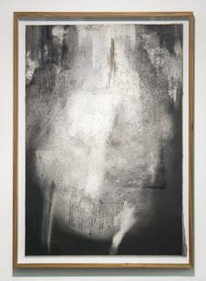 Alexandra Karakashian | Achromtic III | 2017 | Oil and Salt on Sized Paper | 91 x 63 cm