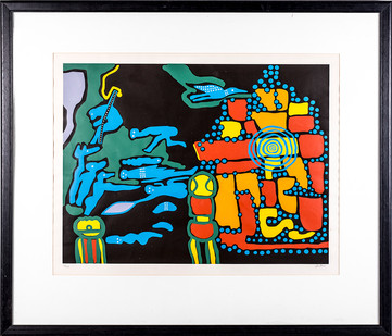 Walter Battiss | Neo-Marabaraba | n.d. | Silkscreen on Paper | 50.5 x 65 cm