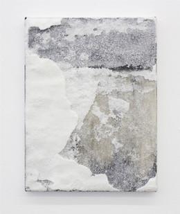 Alexandra Karakashian | Displace (Sketch II) | 2016 | Oil and Salt on Canvas | 41 x 30.5 cm