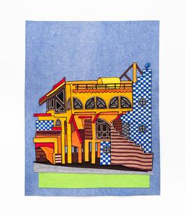 Jody Paulsen | Strandfontein Pavilion Study | 2020 | Felt Collage | 132.5 x 103 cm