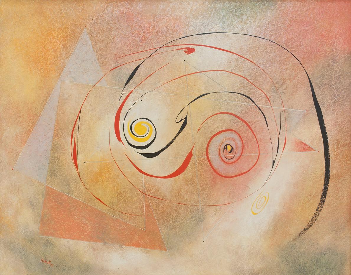 Albert Newall | (Untitled) | 1958 | Mixed Medium on Board | 39.5 x 50 cm