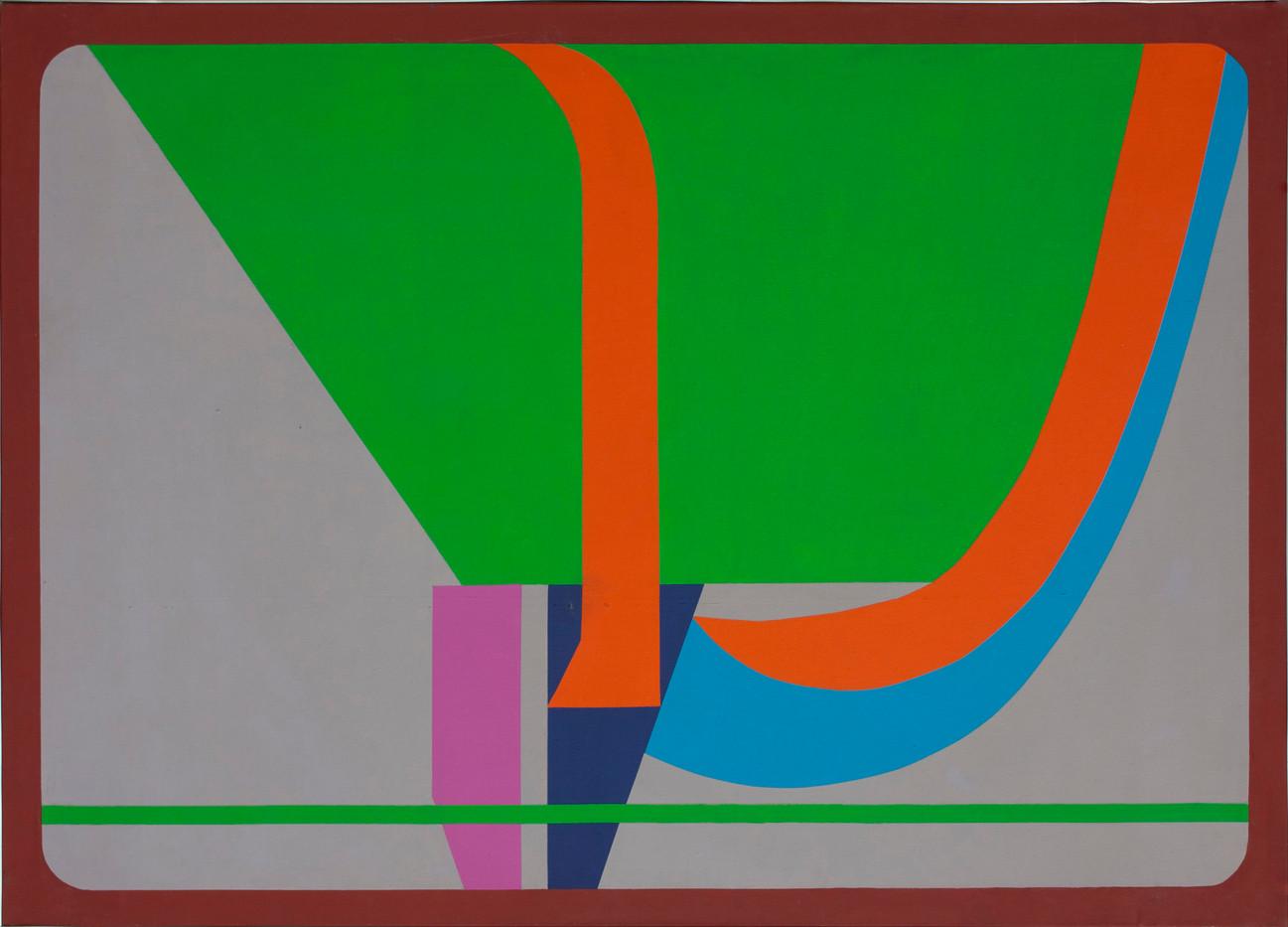 Trevor Coleman | Upthrust | 1973 | Acrylic on Canvas | 91 x 127 cm
