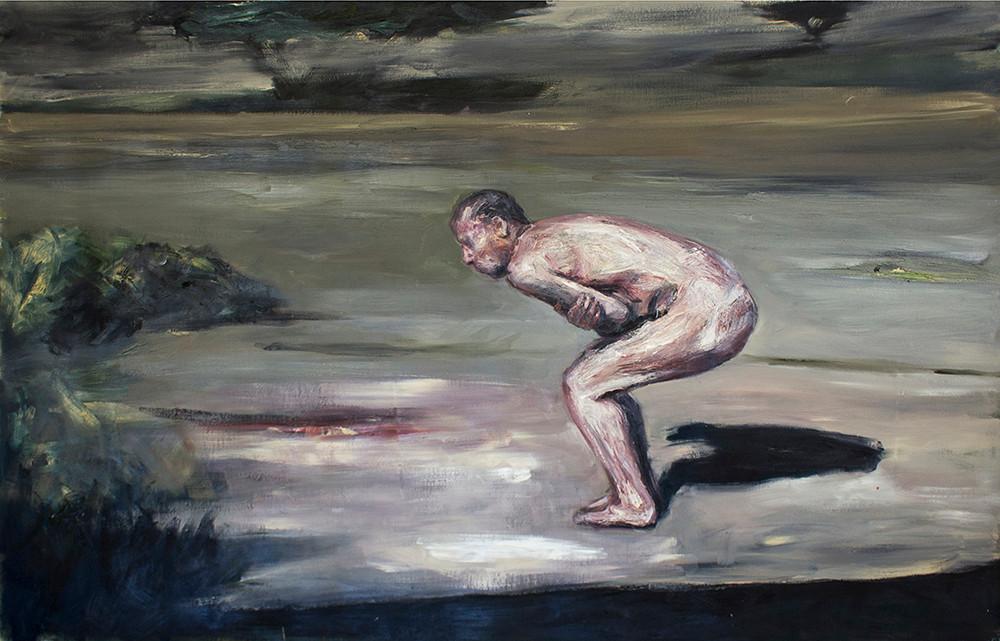 Johann Louw | Dansie op Mooiplaas | 2015 | Oil on Canvas | 121.5 x 152 cm