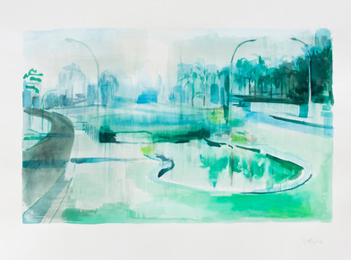 Kate Gottgens   Monday   2013   Watercolor on Paper   57 x 76.5 cm