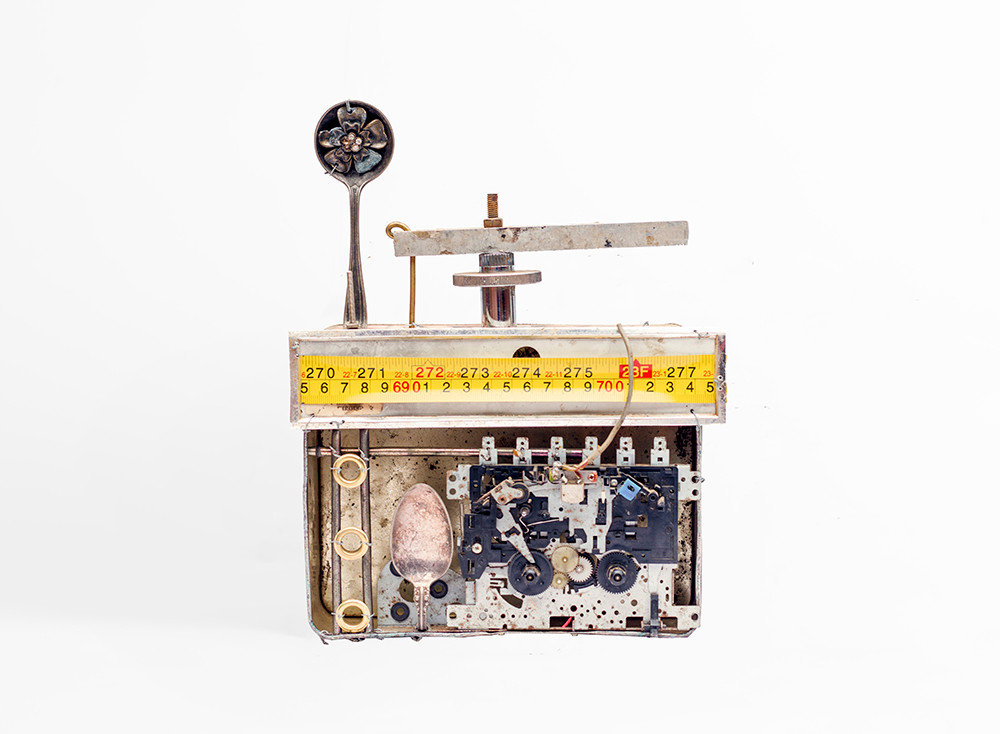 Cyrus Kabiru | Swiss Radio | 2020 | Steel and Found Objects | 28 x 20 x 8 cm