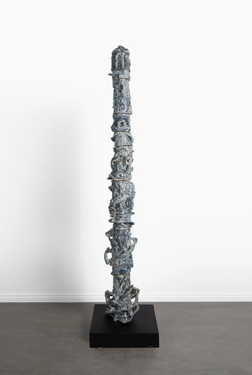 Marlene Steyn, Abraham Kritzman & Angels Miralda Tena | Vertigo where to go (ego) | 2018 | Painted Ceramic | 210 x 27 x 26 cm