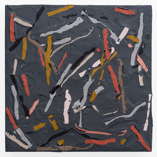 Gabrielle Kruger | Pick-Up Paint (Grey I) | 2019 | Acrylic on Board | 25 x 25 cm