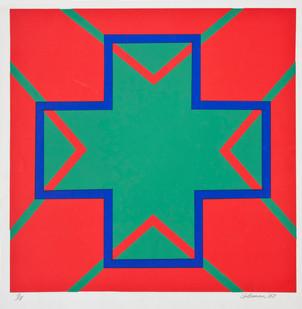 Trevor Coleman | Blue Signal | 1967 | Screenprint on Paper | 71 x 51.5 cm | Edition of 11
