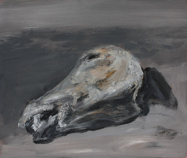 Johann Louw | Perdekop, Klein | 2012 | Oil on Plywood | 34.5 x 45 cm