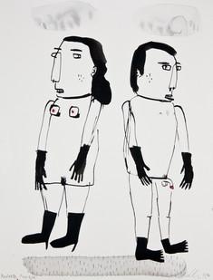 Karlien de Villiers | Perfekte Paartjie | 2014 | Watercolour and Collage on Paper | 45 x 35 cm
