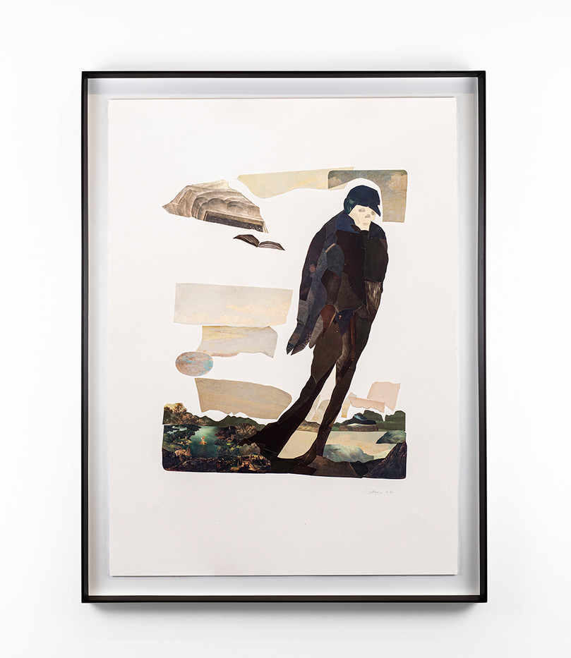 Kate Gottgens | Pestilence (After Aubrey Beardsley) | 2020 | Collage on Paper | 102 x 73 cm