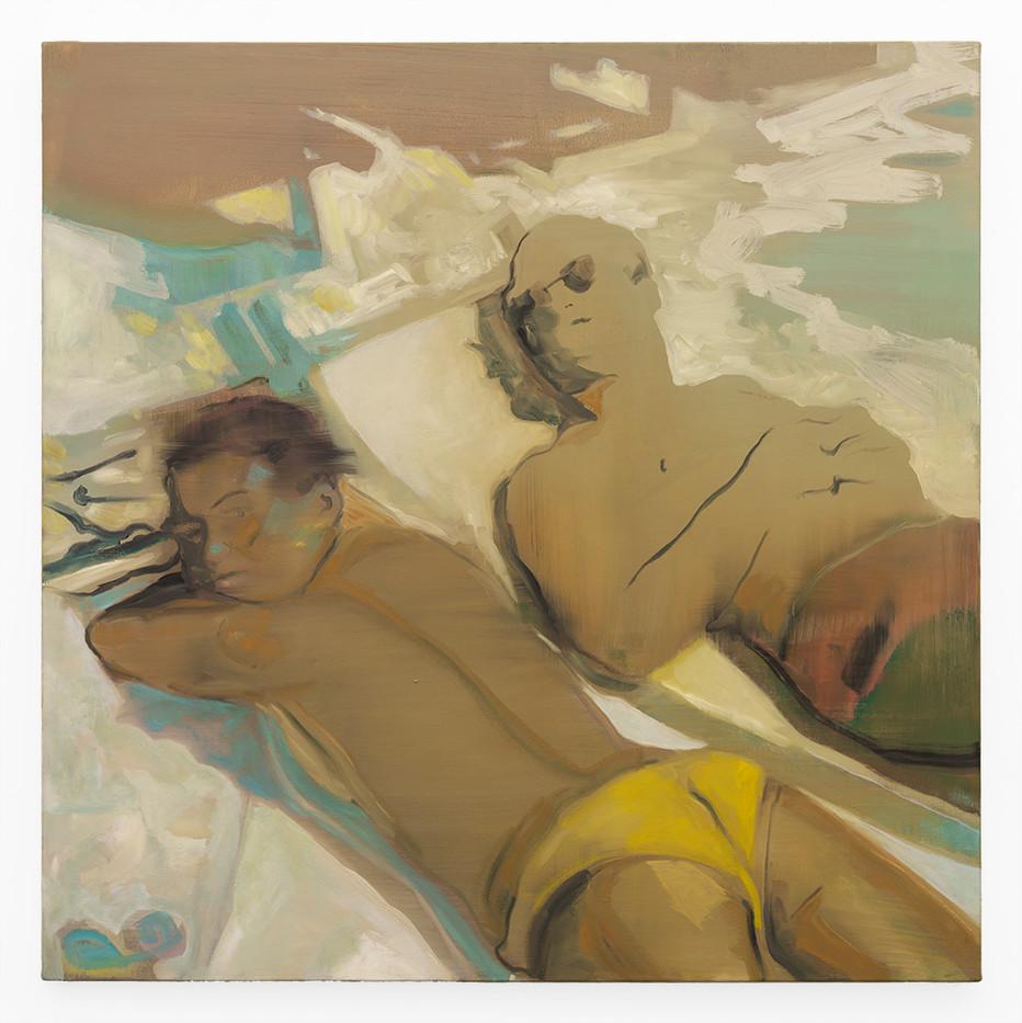 Kate Gottgens | Couple Lounging | 2019 | Oil on Canvas | 95 x 95 cm