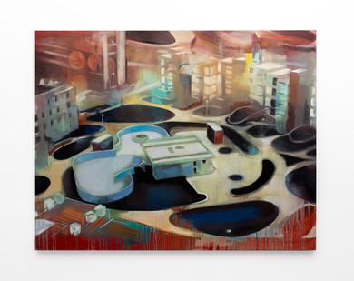 Kate Gottgens   Tilt   2020   Oil on Canvas   168 x 214 cm