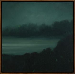 Jake Aikman | Nocturne (Inlet) | 2017 | Oil on Canvas | 40 x 40 cm