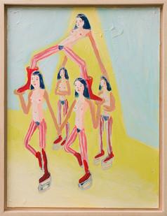 Marlene Steyn   Her flowers follow her flow   2018   Oil on Canvas Board   40 x 30 cm