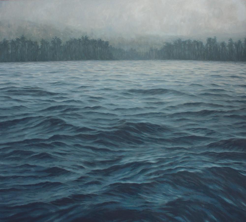Jake Aikman | N10.841399, W85.875374 | 2013 | Oil on Canvas | 165 x 165 cm