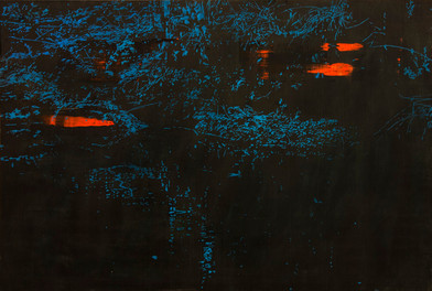 Peter Eastman | Deep Chine XV | 2014 | Oil on Aluminium | 50 x 84 cm