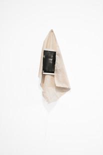 Alexandra Karakashian   Yaskmak I   2018   Oil on Paper and Textile   Dimensions Variable