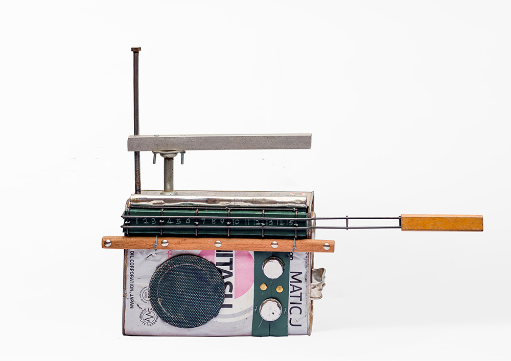 Cyrus Kabiru | Ngamia 2 | 2020 | Steel and Found Objects | 40 x 63 x 15 cm