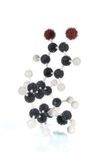 Frances Goodman | Zoloft | 2008 | Crystal Beads, Pins, Needles, Steel, Polystyrene | 70 x 60 x 48 cm