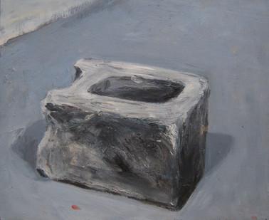 Johann Louw | Sementblok II | 2012 | Oil on Plywood | 46 x 55 cm