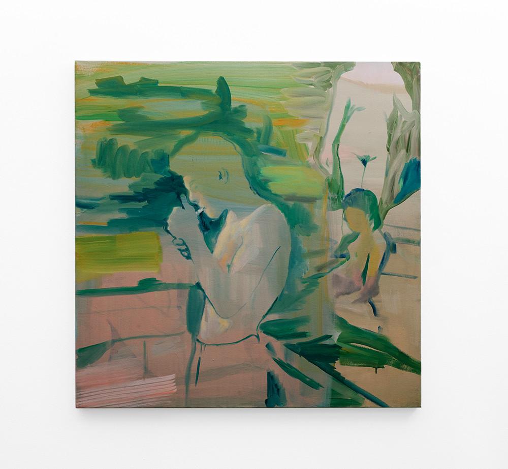 Kate Gottgens   Burn   2018   Oil on Canvas   90 x 90 cm