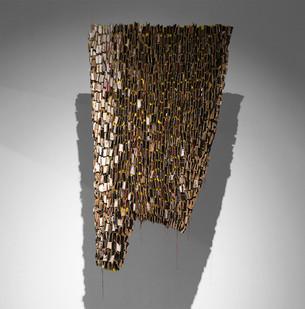 Wallen Mapondera   Cleansing   2017   Cardboard, Laminated Hessian   170 x 90 cm