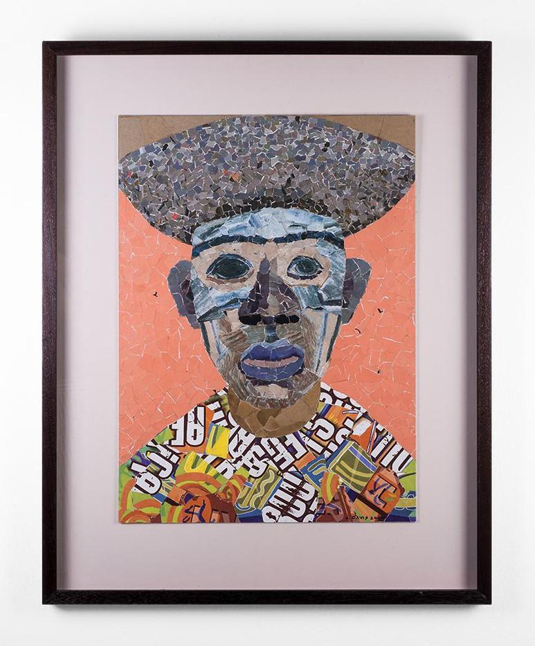 Lionel Davis | Mask 7 | 2009 | Collage on Paper | 61 x 45 cm