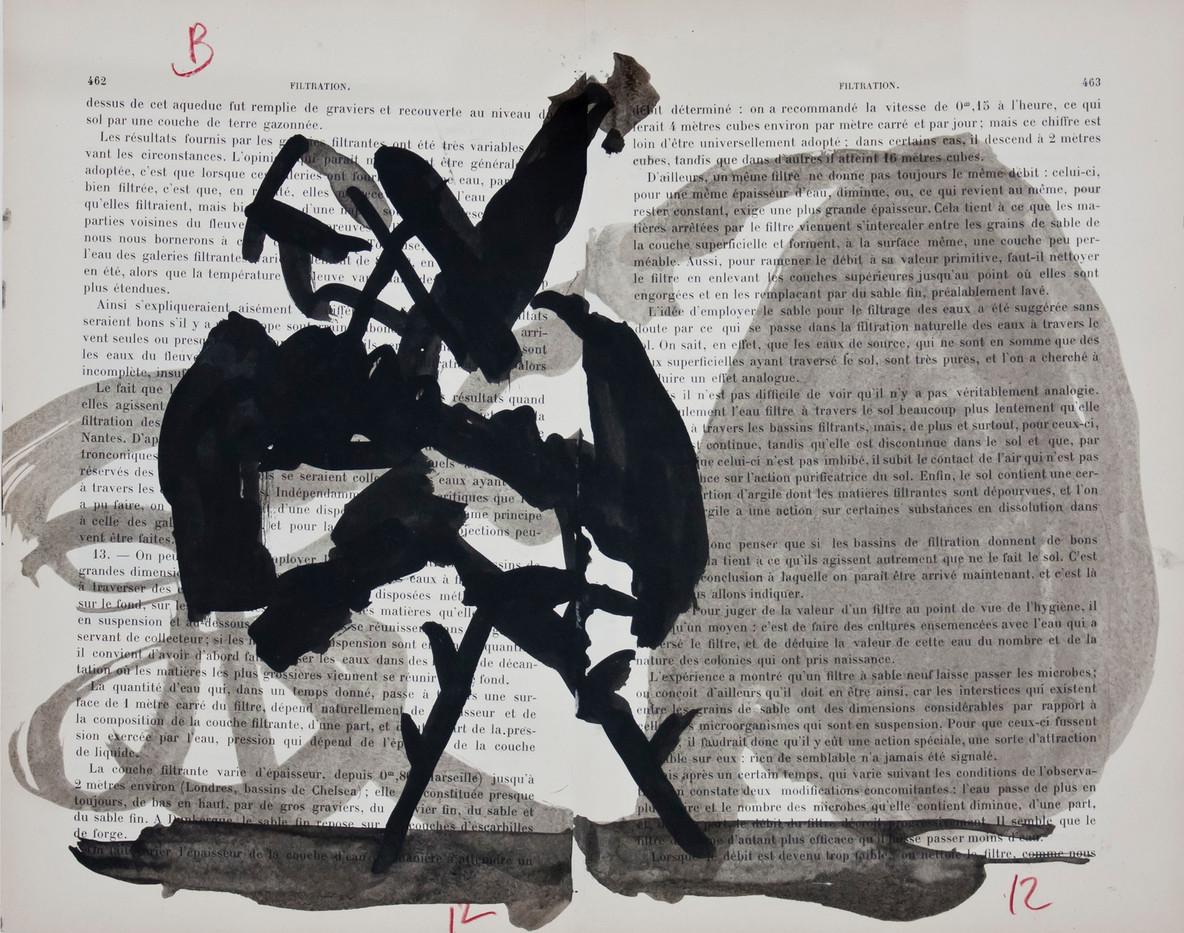William Kentridge | (Encycapedia) | 2000 | Chine Collé on Found Paper | 25 x 29 cm