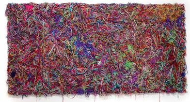 Barend de Wet | Beyond the Colour Line | 2012 | 100% Acrylic Wool on Board | 123 x 244 cm