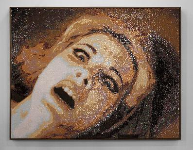 Frances Goodman | The Victim | 2016 | Hand-Stitched Sequins on Linen | 120.5 x 155.5 cm