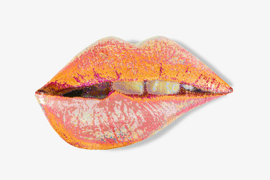 Frances Goodman | Peachy Dream | 2018 | Hand-Stitched Sequins, Canvas, Foam, MDF | 61 x 108 x 8 cm | Edition of 3 + 1 AP