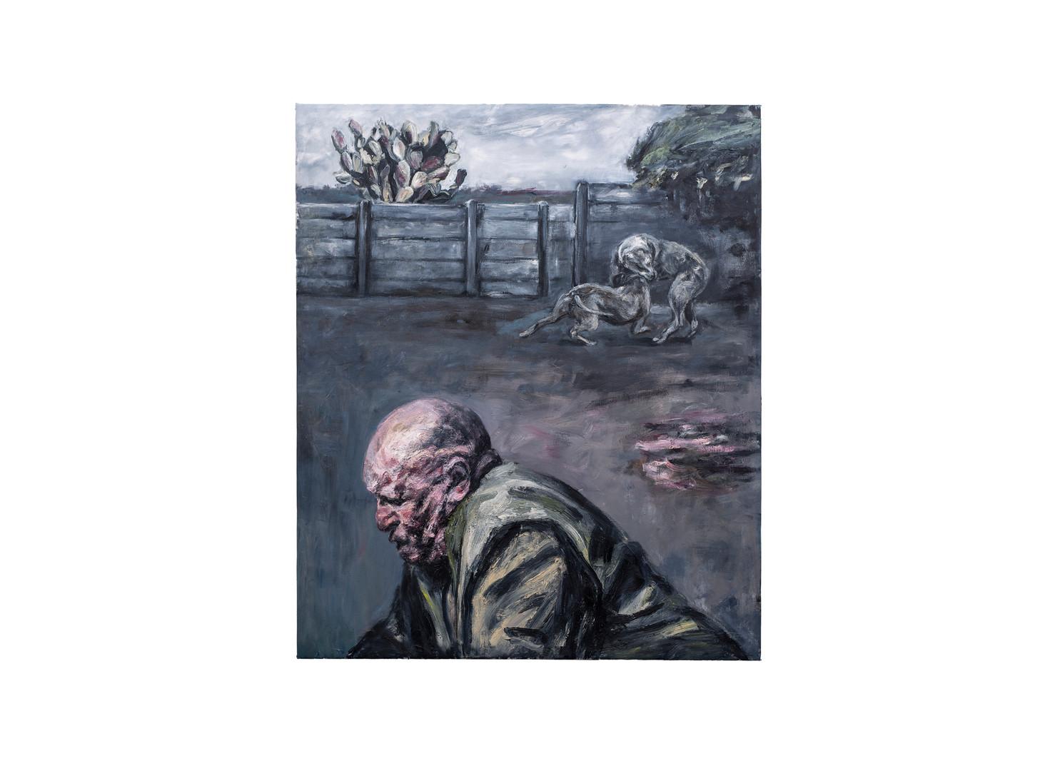 Johann Louw | Agtertuin, met die Groot Man | 2020 | Oil on Canvas | 175 x 209 cm
