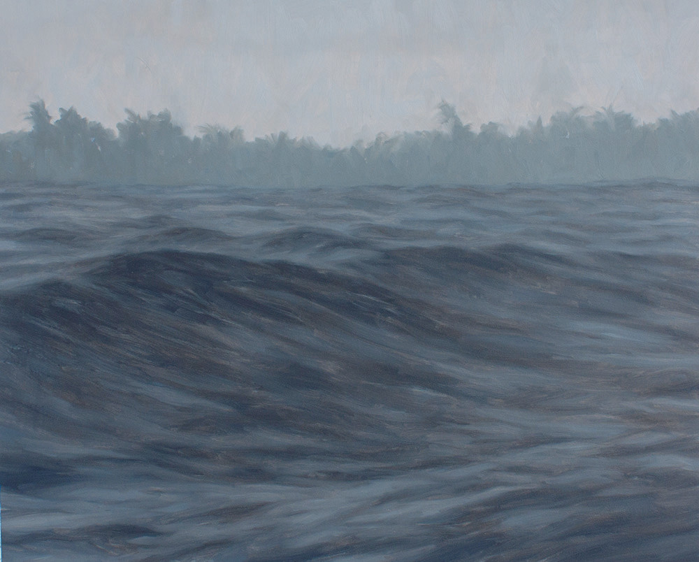 Jake Aikman | N10.852083, W85.82095 | 2013 | Oil on Paper | 50 x 61 cm