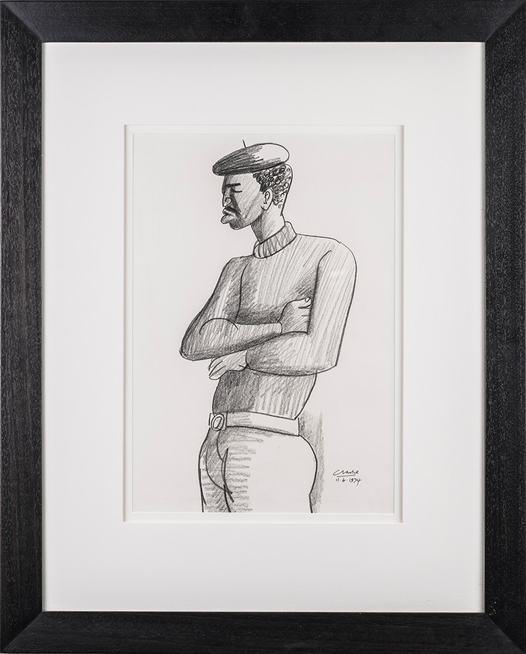 Peter Clarke | The Big Man | 1974 | Pencil on Paper | 41 x 28.5 cm