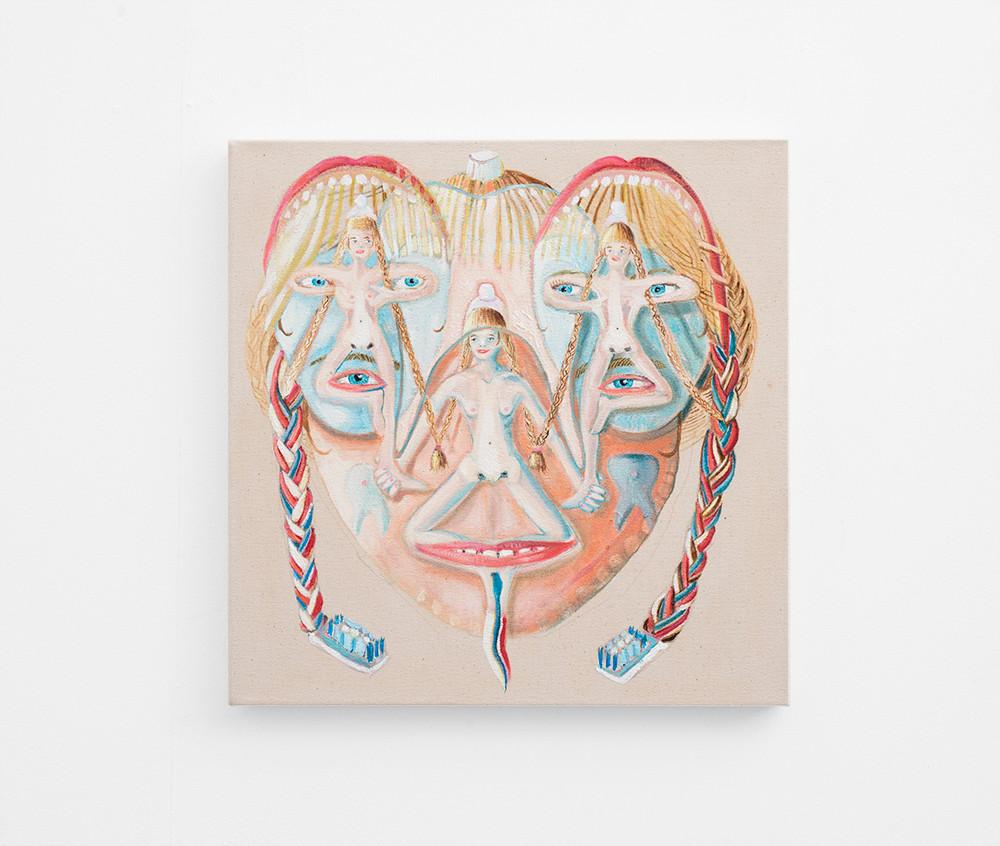 Marlene Steyn | The Presidental Colgate Club | 2017 | Oil on Canvas | 50 x 50 cm